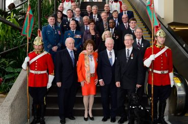 GG05-2016-0468-112 December 8, 2016 Edmonton, Alberta, Canada  His Excellency the Right Honourable David Johnston, Governor General of Canada, presented honours during a ceremony on December 8, 2016. (MST) at the Shaw Conference Centre, in Edmonton, Alberta. More than 70 remarkable Canadians were recognized for their excellence, courage or exceptional dedication to service with one of the following honours: the Order of Merit of the Police Forces, the Meritorious Service Decoration, the Decoration for Bravery, the Polar Medal or the Sovereign's Medal for Volunteers.   Credit: Sgt Johanie Maheu, Rideau Hall, OSGG